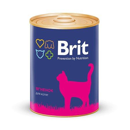 Корм влажный для котят Brit 340г с ягненком консервированный