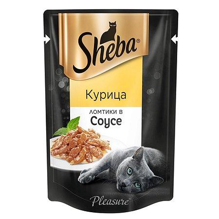 Корм влажный для кошек Sheba 85г Ломтики в соусе курица