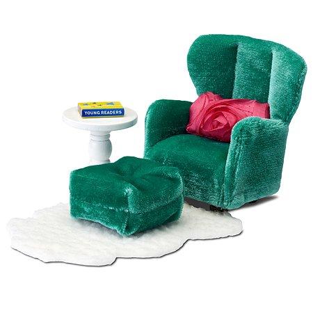 Мебель для домика Lundby Смоланд Кресло с пуфиком 6предметов LB_60209300
