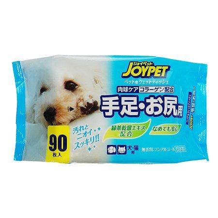 Салфетки влажные для животных Joypet DoggyMan для ухода за лапами и областью под хвостом 90шт