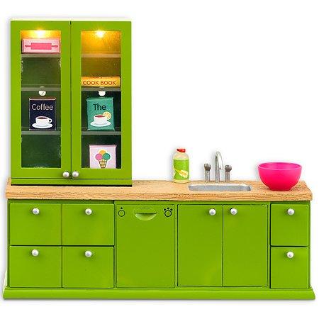 Мебель для домика Lundby Смоланд Кухонный набор с буфетом 8предметов LB_60207700