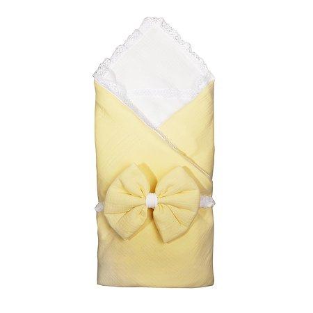 Комплект на выписку BabyEdel 4предмета Желтый-Молоко 11231