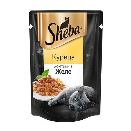 Корм влажный для кошек Sheba 85г Ломтики в желе курица