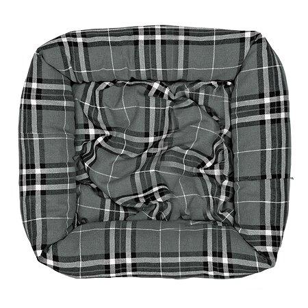 Лежак для собак Happy Puppy Бейкер стрит 60*60 Серый
