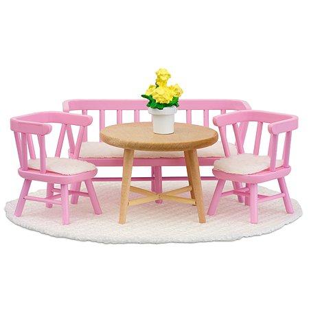 Мебель для домика Lundby Смоланд Обеденный уголок 9предметов Розовый LB_60207900