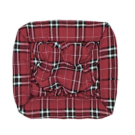 Лежак для собак Happy Puppy Кристмас дэй 60*60 Красный