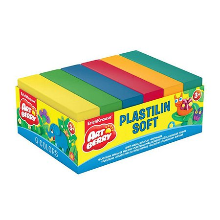 Пластилин ArtBerry мягкий 6цветов 300г 33303