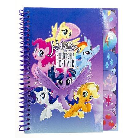 Записная книжка Kinderline My Little Pony с цветными разделителями 60л MPFS-UA1-5037