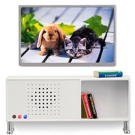 Мебель для домика Lundby Музыкальный центр+телевизор 5предметов Белый LB_60208200