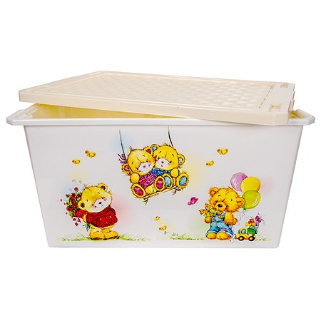 Детский ящик Little Angel для хранения игрушек X-BOX Bears 12л