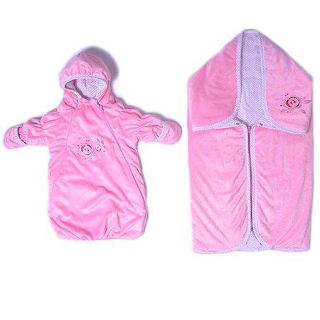 Комплект в коляску Аваль-трейд 2 предмета Розовый