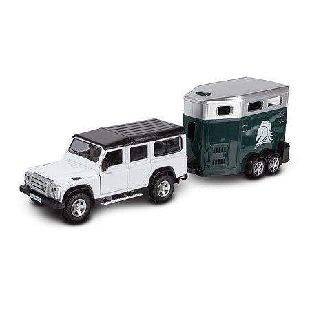 Машина с вагончиком Mobicaro Land Rover Defender 1:32