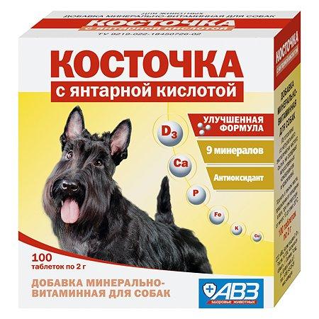 Пищевая добавка для собак Косточка Янтарная кислота минерально-витаминная 100таблеток