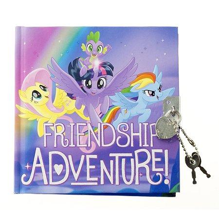 Записная книжка Kinderline My Little Pony с замком-сердечко 80л MPFS-UA1-A-4805-W