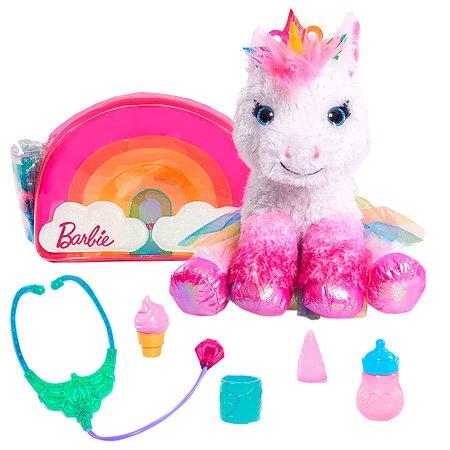 Игрушка мягкая Barbie Единорог с набором врача 62760