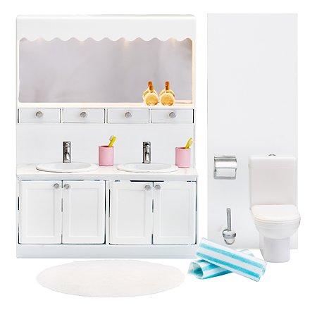 Мебель для домика Lundby Смоланд Ванная с 2раковинами 12предметов LB_60208800