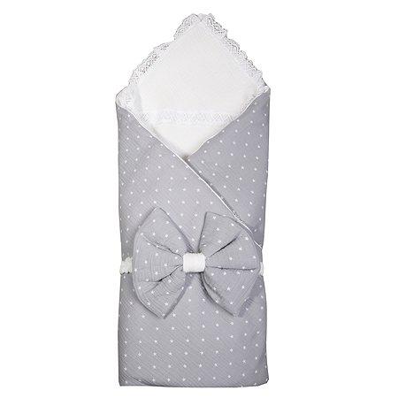 Комплект на выписку BabyEdel Звезды 4предмета Серый-Молоко 11231