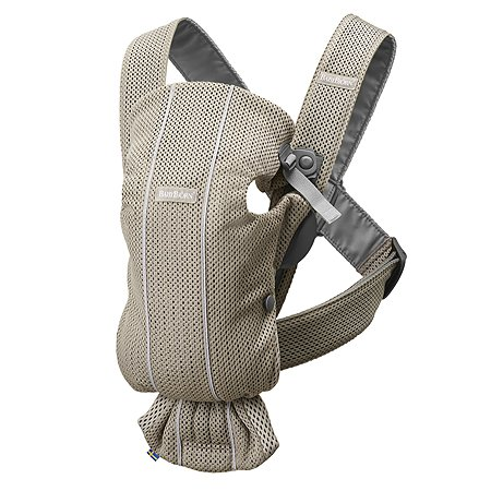 Рюкзак для переноски ребенка BabyBjorn Mini Mesh Серо-бежевый