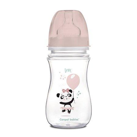 Бутылочка Canpol Babies Toys 240мл c 3месяцев Розовая 250989241