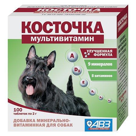 Пищевая добавка для собак Косточка Мультивитамин кислота минерально-витаминная 100таблеток