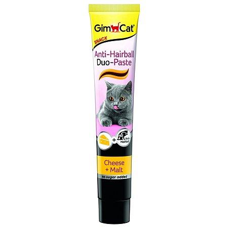 Паста для кошек Gimcat Дуо для выведения шерсти сыр-солод 50г