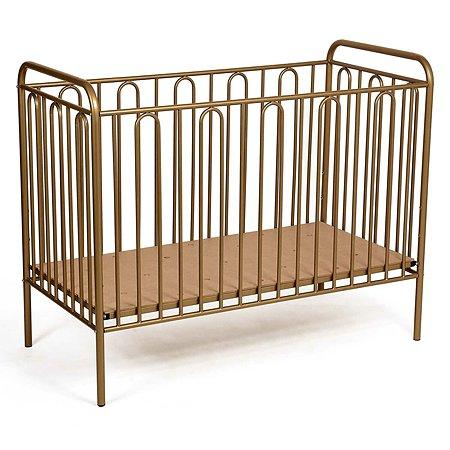 Кроватка детская Polini kids Vintage 110 Золотистый
