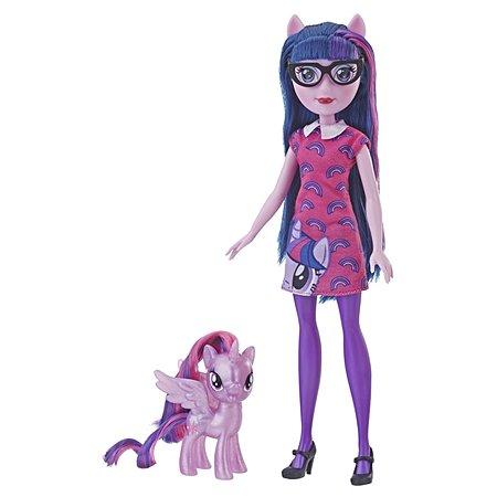 Набор игровой My Little Pony Пони и кукла Equestria Girls Твайлайт Спаркл