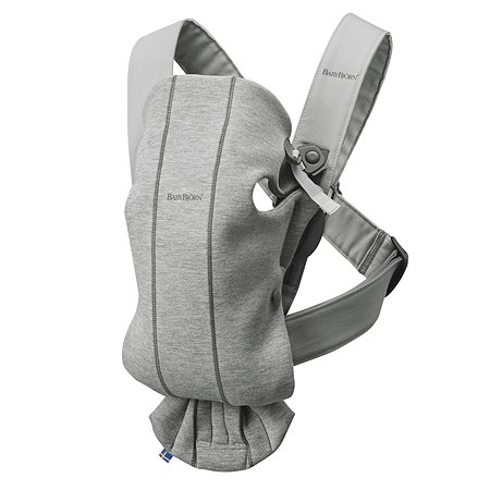 Рюкзак для переноски ребенка BabyBjorn Mini Cotton Jersey Светло-Серый
