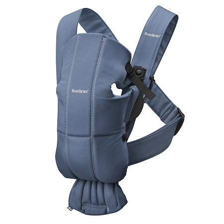 Рюкзак для переноски ребенка BabyBjorn Mini Cotton Индиго