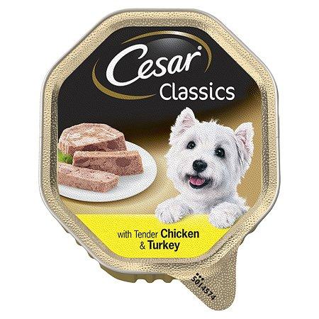 Корм для собак Cesar паштет из курицы и индейки 150г