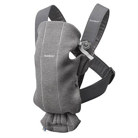 Рюкзак для переноски ребенка BabyBjorn Mini Cotton Jersey Темно-Серый