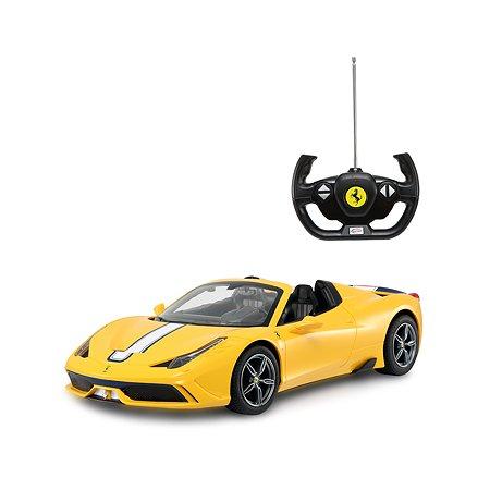 Машина на радиоуправлении Rastar Ferrari 458 1:14 Желтая