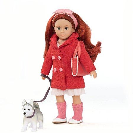 Кукла Lori Лори с собакой породы Хаски 15 см