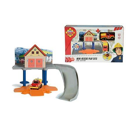 Маленький пожарный гараж Fireman Sam и 1 машинка