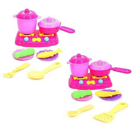 Набор посуды Demi Star плита+8 предметов в ассортименте