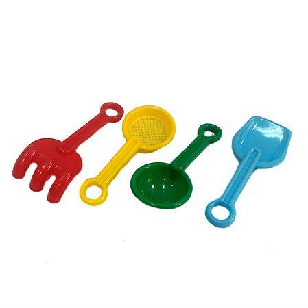 Игрушка для песочницы Devik Toys Совок, лопатка, ситечко, грабли 13 см в ассортименте