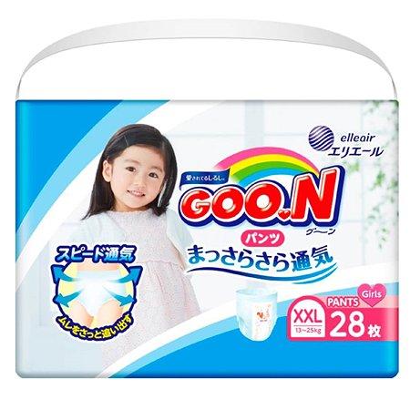Подгузники-трусики Goon для девочек XXL 13-25кг 28шт
