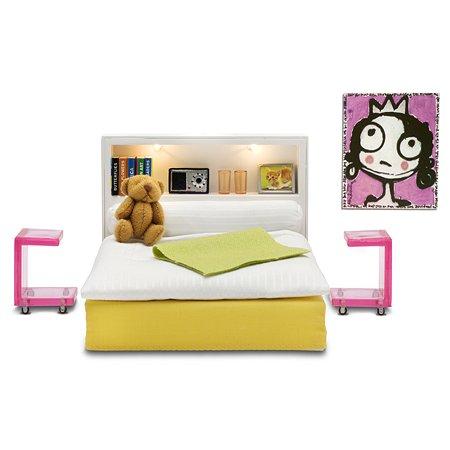 Мебель для домика Lundby Стокгольм Спальня 16предметов LB_60904700