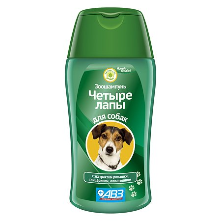 Шампунь для собак АВЗ Четыре лапы ежедневное мытье лап 180мл 43373
