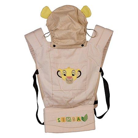 Рюкзак-кенгуру Polini kids Disney baby Король Лев с вышивкой Бежевый
