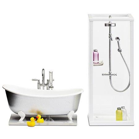 Мебель для домика Lundby Смоланд Ванная+душевая 8предметов LB_60208900