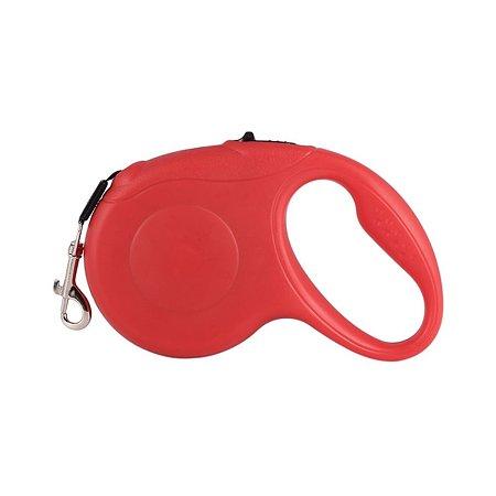 Поводок-рулетка для собак Ripoma с механическим блокатором длины красный Ripoma