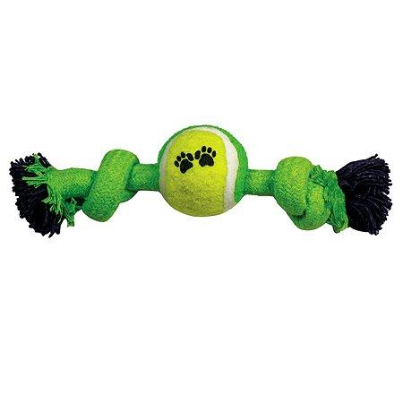 Игрушка для собак Triol Веревка-канат с 2узлами и мячом 12111068