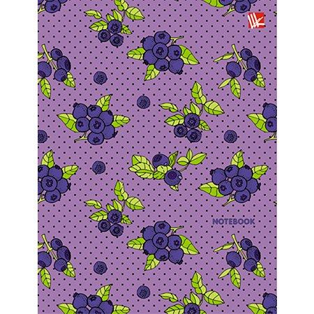 Книга для записей  А6 Listoff Яркая голубика 80 лист (клетка)