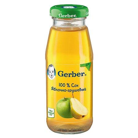 Сок Gerber яблоко груша 0.175л с 4месяцев