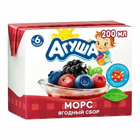 Морс Агуша ягодный сбор 200мл с 6месяцев