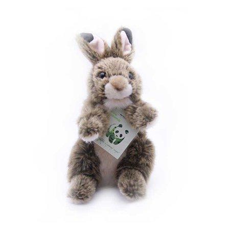 Кролик WWF 18 см коричневый