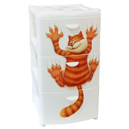 Комод IDEA АЛЬТ ДЕКО (3 секции) Кот