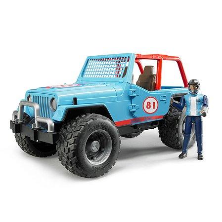 Машина Bruder Cross с гонщиком Синяя 02-541