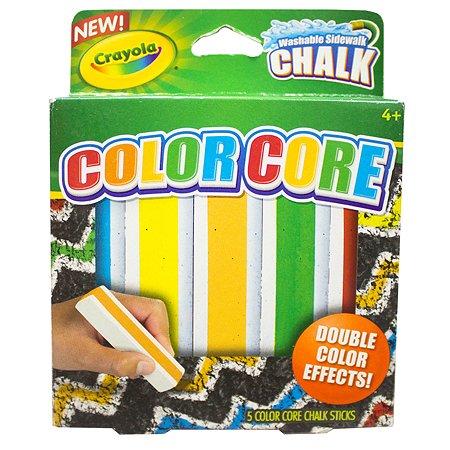 Мел для асфальта Crayola с цветным стержнем, 5 цв